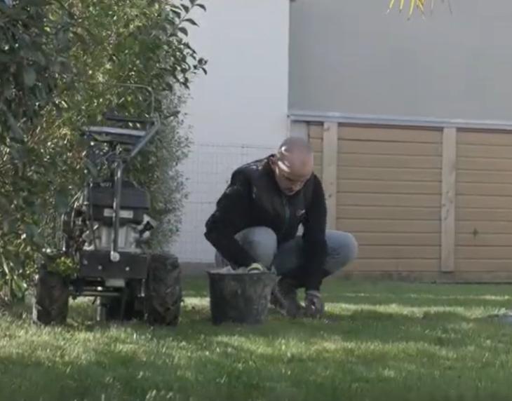 Mise en place cavalier robot tondeuse husqvarna